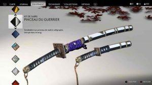 Ghost-of-Tsushima-kit-de-sabre-pinceau-du-guerrier