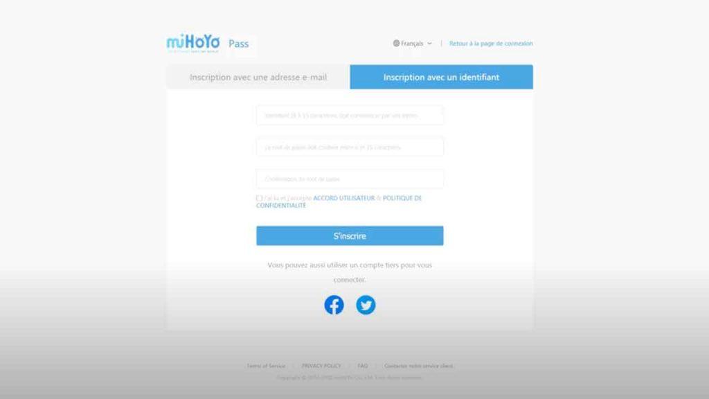 page-de-creation-de-compte-mihoyo-genshin-impact