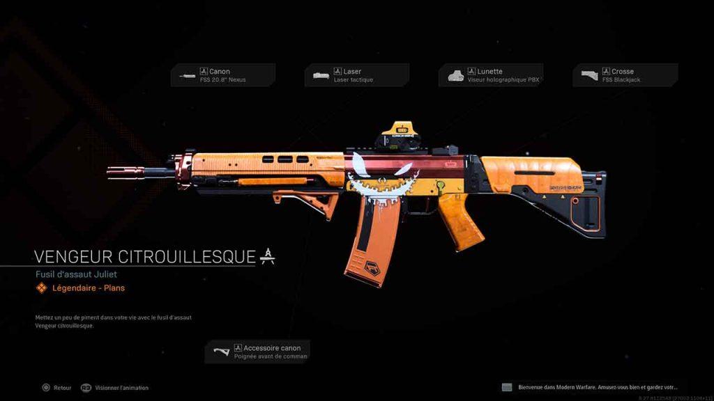CoD-Modern-Warfare-Warzone-plan-d-arme-legendaire-vengeur-citrouillesque