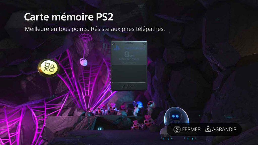 Astros-Playroom-PS5-artefact-carte-memoire-PS2-du-monde-Circuit-SSD