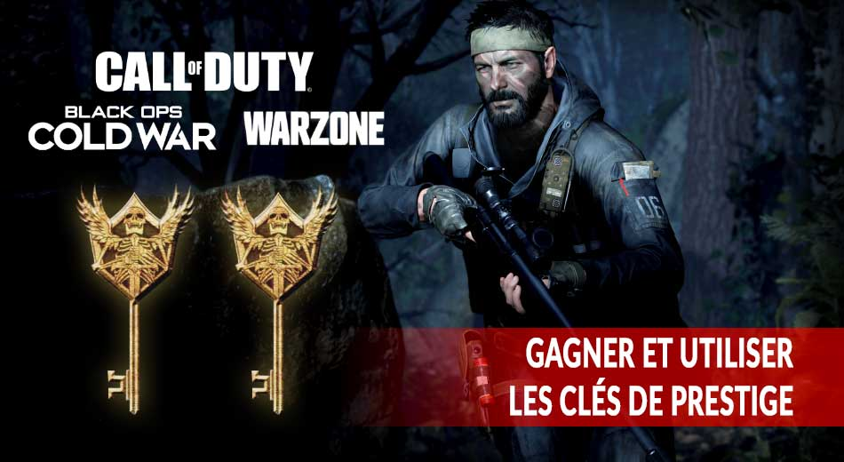 Call of Duty Warzone / Cold War obtenir des clés de prestige et accéder à la boutique prestige