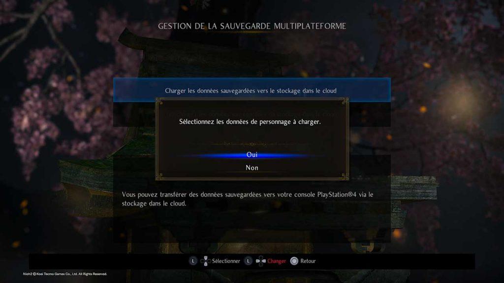 Nioh-collection-envoyer-sauvegarde-dans-le-cloud-PS4-PS5