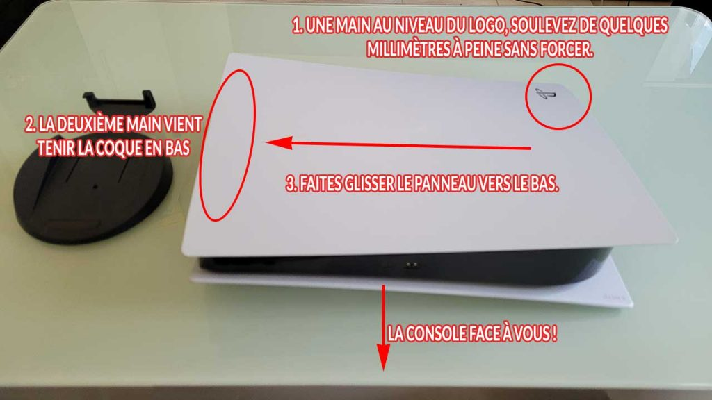enlever-coque-capot-PS5-tuto-1