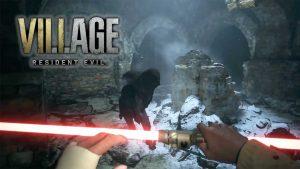arme-sabre-laser-rouge-resident-evil-8-village