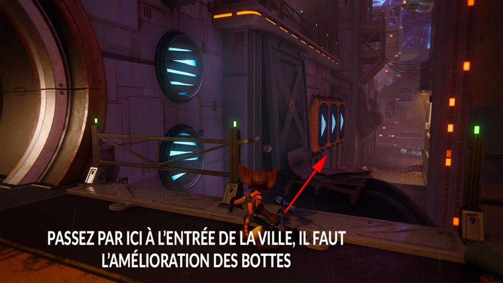 emplacement-boulon-en-or-3-Ratchet-et-Clank-Rift-Apart-planete-Corson-V