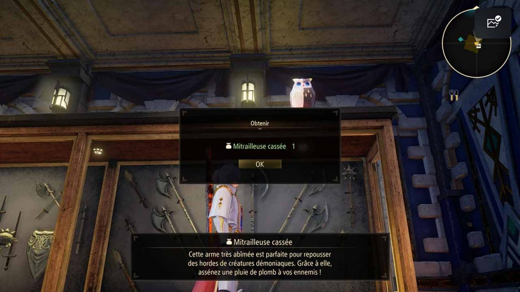 Tales-of-Arise-hibou-special-6-et-artefact-mitrailleuse-cassee